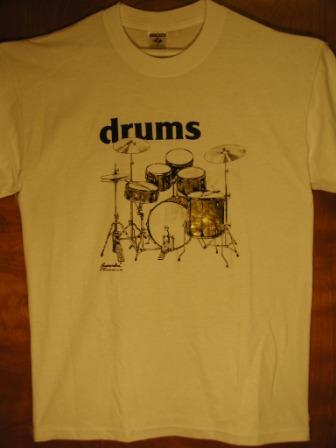 Drums White Tee Shirt