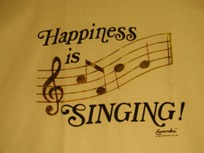 Happiness is singing light shirt