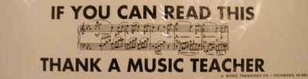 If you can read this, thank a music teacher Bumper Sticker