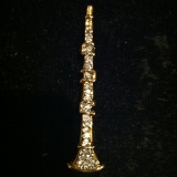 Gold Plated Crystal Clarinet