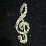 Treble Clef with Crystals