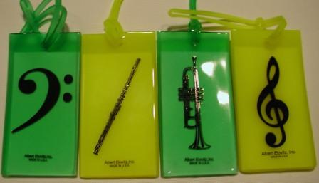 Bass Clef, Flute, Trumpet, and Treble Clef Luggage Tags