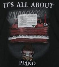 It's All About Piano Tee-Shirt