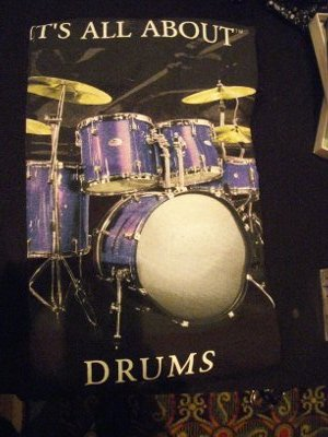 drum set tee shirt