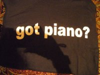 got piano shirt
