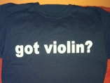 got violin shirt